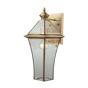 Riverdale Brushed Brass One-Light Outdoor Tall Wall Sconce