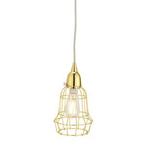 Wire Gold One-Light Six-Inch Mini Pendant