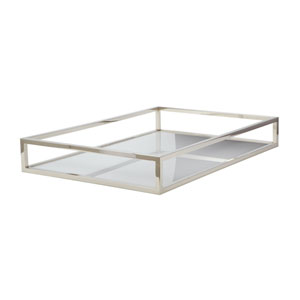 Rod White Box 20-Inch Rectangular Tray