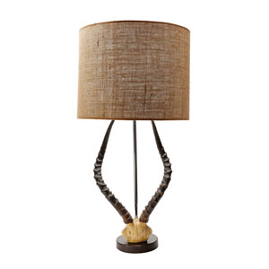 Faux Horn Brown One-Light 13-Inch Table Lamp