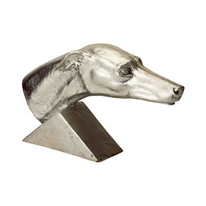 Gilded Age Silver Greyhound Statue