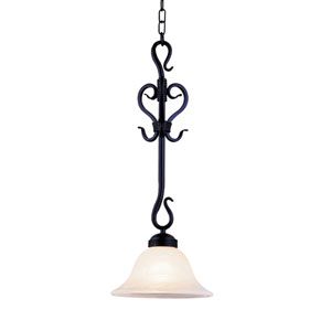 Buckingham Matte Black One Light Pendant