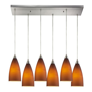 Vesta Satin Nickel Six-Light Pendant