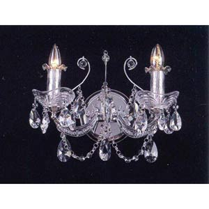 Worthington Silver Plated Two-Light Sconce
