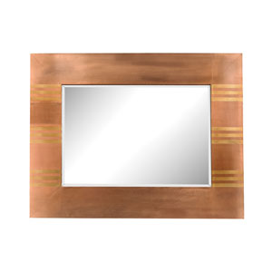 Copper Frame with Gold 46 x 36-Inch Rectangle Mirror