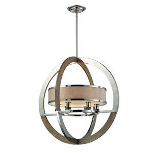 Crestwood Polished Nickel Six-Light Pendant