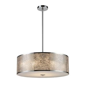 Medina Polished Stainless Steel Five-Light Pendant