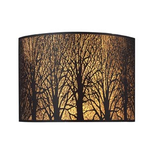 Woodland Sunrise Aged Bronze Two-Light Sconce