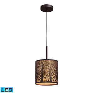 Woodland Sunrise One Light LED Pendant In Aged Bronze