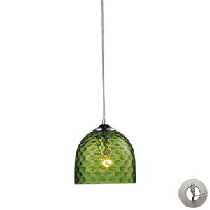 Viva One Light Green Pendant In Polished Chrome Includes w/ An Adapter Kit