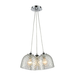 Viva Polished Chrome 15-Inch Three-Light Pendant
