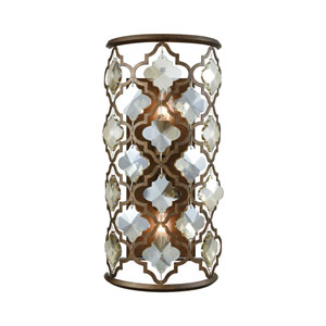 Armand Weathered Bronze Two-Light Wall Sconce