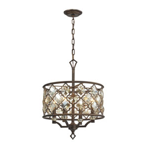 Armand Weathered Bronze Four-Light Pendant