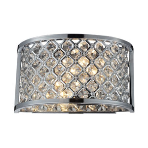 Genevieve Two-Light Wall Sconce in Polished Chrome