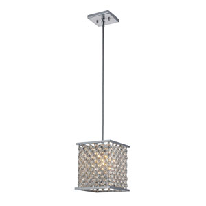 Genevieve One-Light Pendant in Polished Chrome