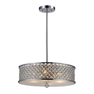 Genevieve Four-Light Pendant in Polished Chrome