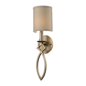 Estonia One-Light Wall Sconce in Aged Silver