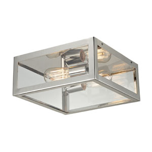 Parameters-Nickel Two-Light Semi-Flush in Polished Chrome