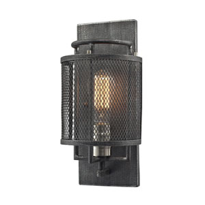 Slatington Silvered Graphite One-Light Wall Sconce