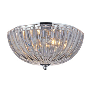 Crystal Two-Light Flush Mount in Polished Chrome