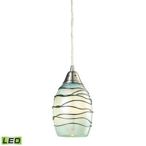 Vines Satin Nickel LED One Light Mini Pendant