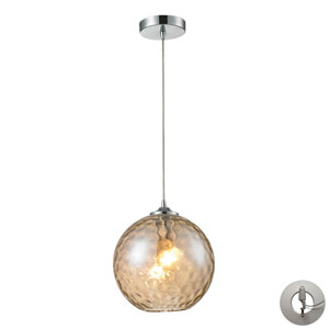 Watersphere Polished Chrome One-Light Pendant with Adapter Kit