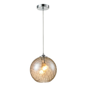 Watersphere Polished Chrome One-Light Pendant