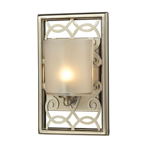Santa Monica Aged Silver One Light Bath Fixture