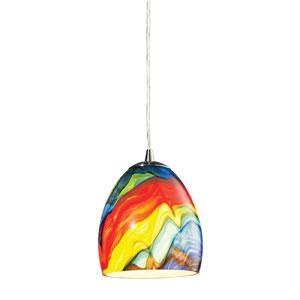 Colorwave Satin Nickel One Light Mini Pendant