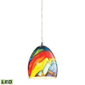 Colorwave Satin Nickel 7-Inch LED One Light Mini Pendant