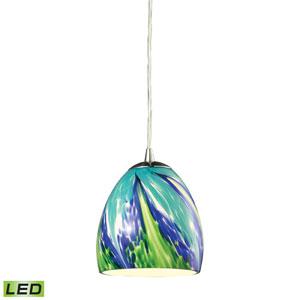 Colorwave Satin Nickel LED One Light Mini Pendant