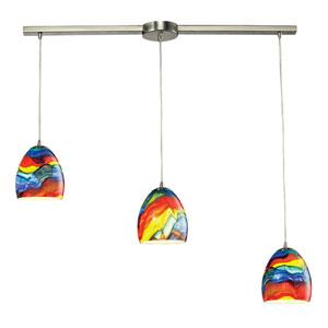 Colorwave Satin Nickel 7-Inch Three Light Chandelier