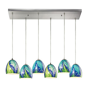 Colorwave Satin Nickel Six Light Chandelier