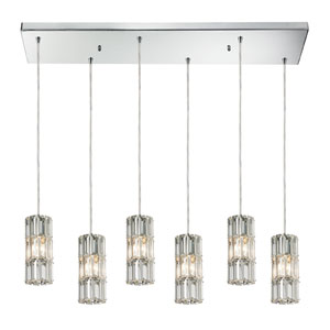 Cynthia Polished Chrome 8-Inch Six Light Chandelier