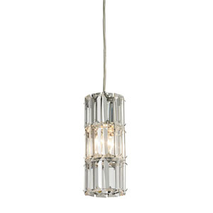Cynthia Polished Chrome 8-Inch One Light Mini Pendant