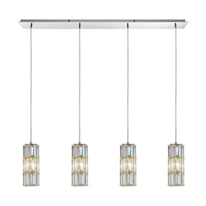 Cynthia Polished Chrome 47-Inch Four-Light Pendant