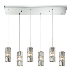 Cynthia Polished Chrome 30-Inch Six Light Chandelier