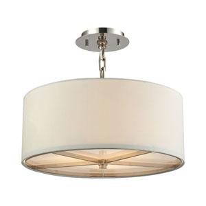 Selma Polished Nickel Three-Light Pendant