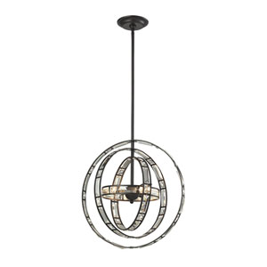 Oil Rubbed Bronze 17-Inch Three-Light Pendant