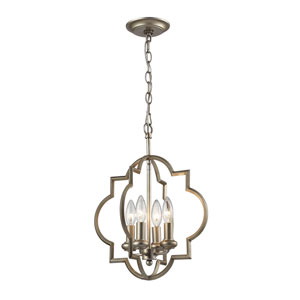 Chandette Aged Silver Four-Light Pendant