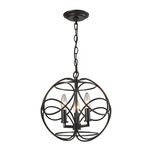 Chandette Oil Rubbed Bronze Three-Light Pendant