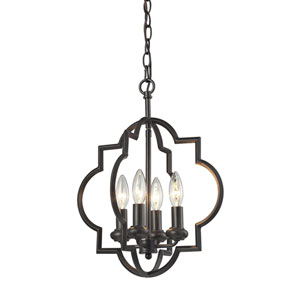 Chandette Oil Rubbed Bronze Four-Light Pendant
