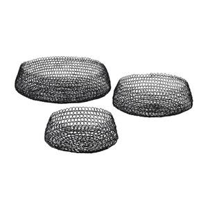 Black Welded Ring Bowls - Set of Three
