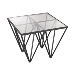 Geometric Dark Bronze Side Table