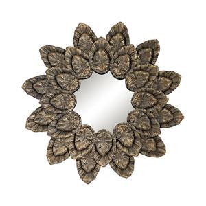 Muted Arabica Gold Round Mirror