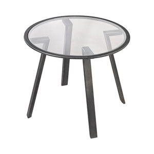 Geometric Pewter Accent Table