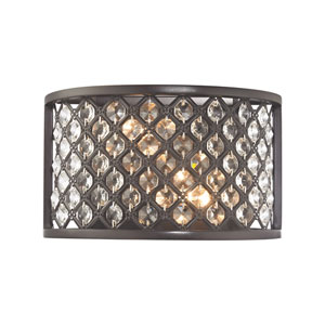 Genevieve Oil Rubbed Bronze 10-Inch Two-Light Wall Sconce