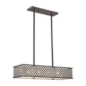 Genevieve Oil Rubbed Bronze 11-Inch Four-Light Pendant