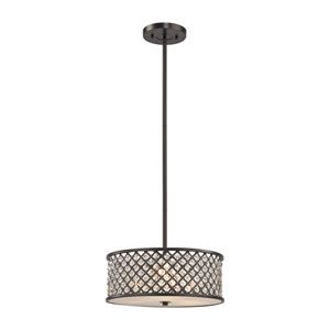Genevieve Oil Rubbed Bronze 16-Inch Three-Light Pendant
