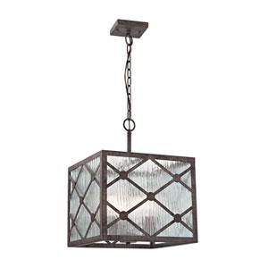 Radley Malted Rust 14-Inch Three-Light Pendant